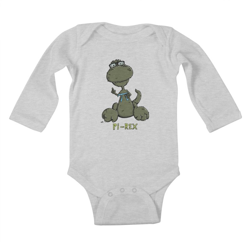 Pi-Rex Kids Baby Longsleeve Bodysuit by Illustrated Madness