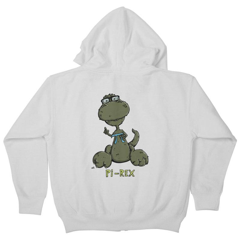Pi-Rex Kids Zip-Up Hoody by Illustrated Madness