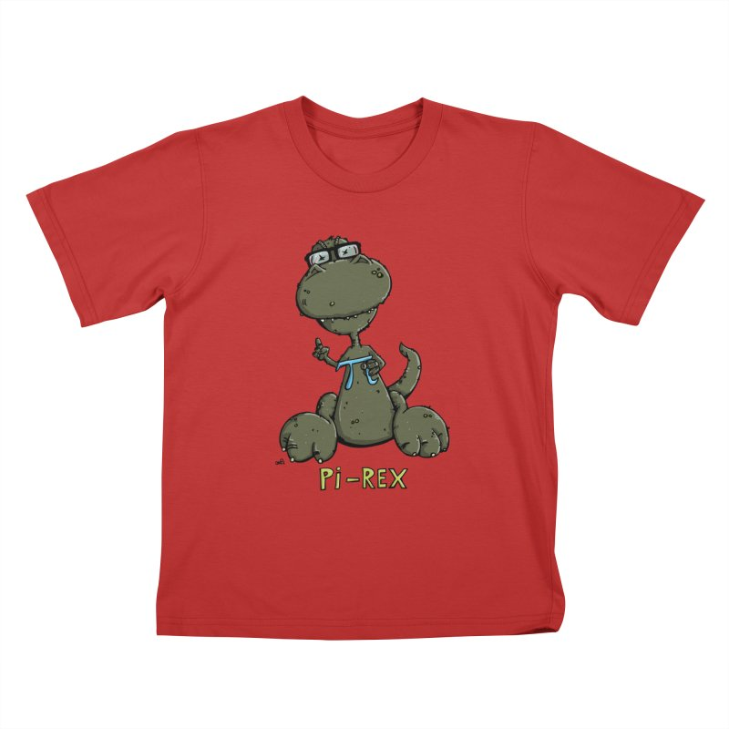 Pi-Rex Kids T-Shirt by Illustrated Madness