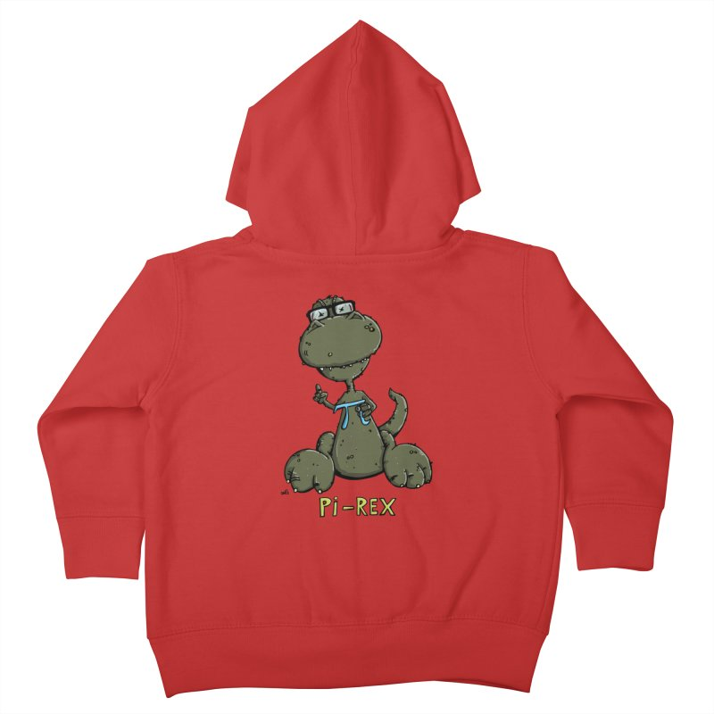 Pi-Rex Kids Toddler Zip-Up Hoody by Illustrated Madness