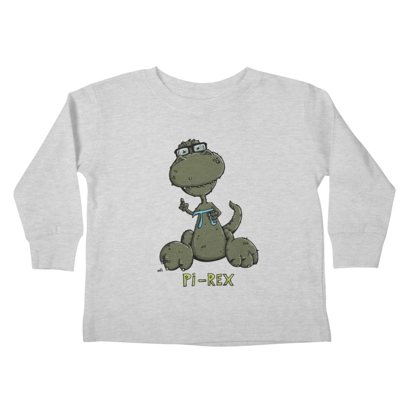 Pi-Rex Kids Toddler Longsleeve T-Shirt by Illustrated Madness