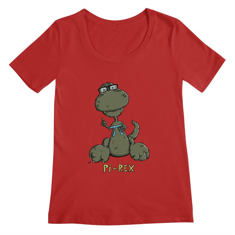Pi-Rex Women's Scoopneck by Illustrated Madness