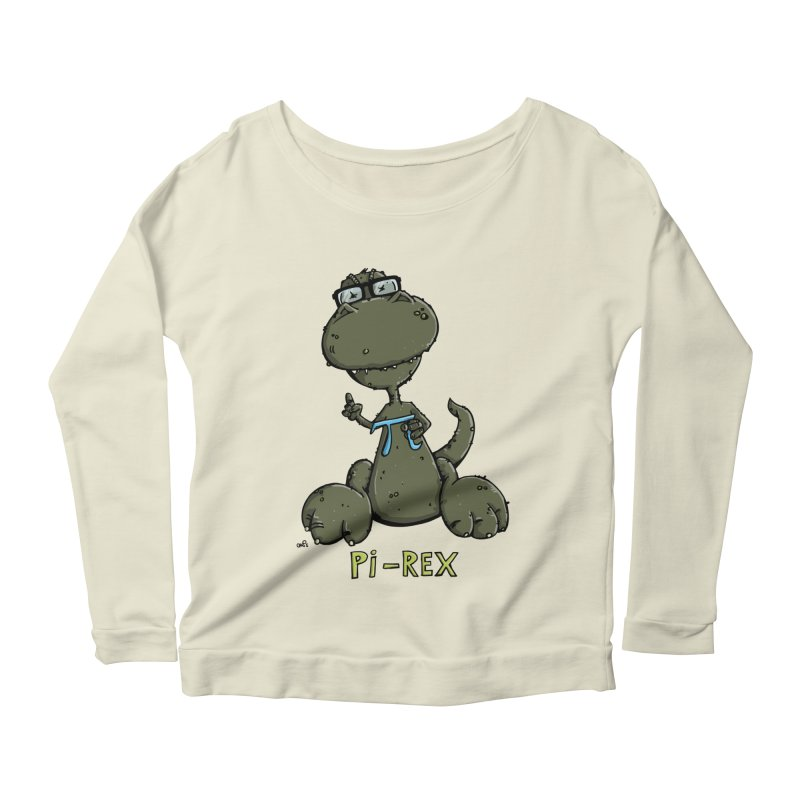 Pi-Rex Women's Longsleeve Scoopneck  by Illustrated Madness