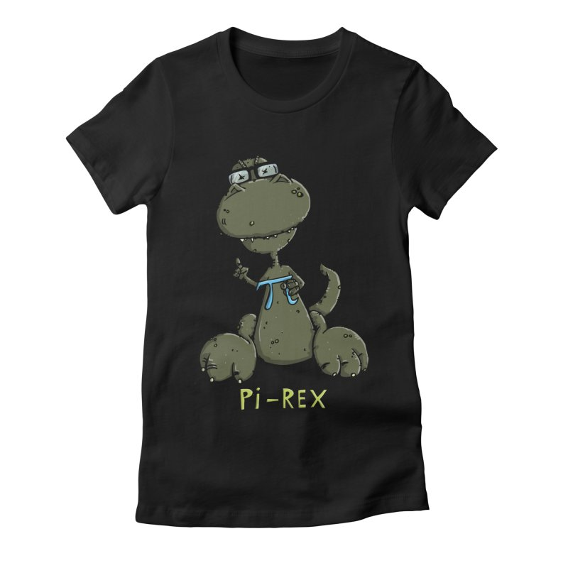 Pi-Rex Women's Fitted T-Shirt by Illustrated Madness