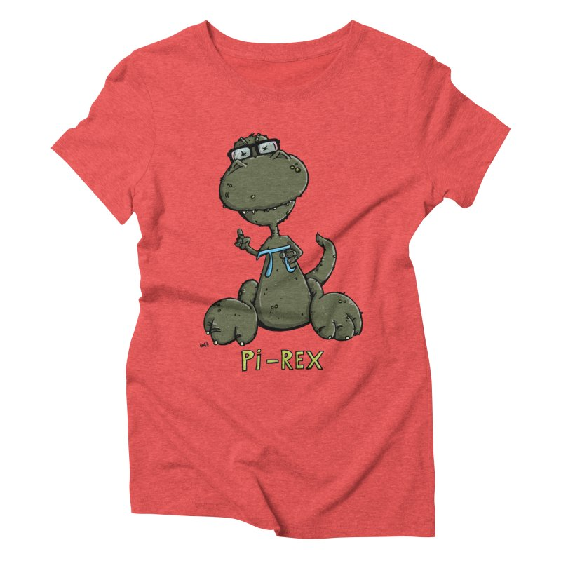 Pi-Rex Women's Triblend T-shirt by Illustrated Madness