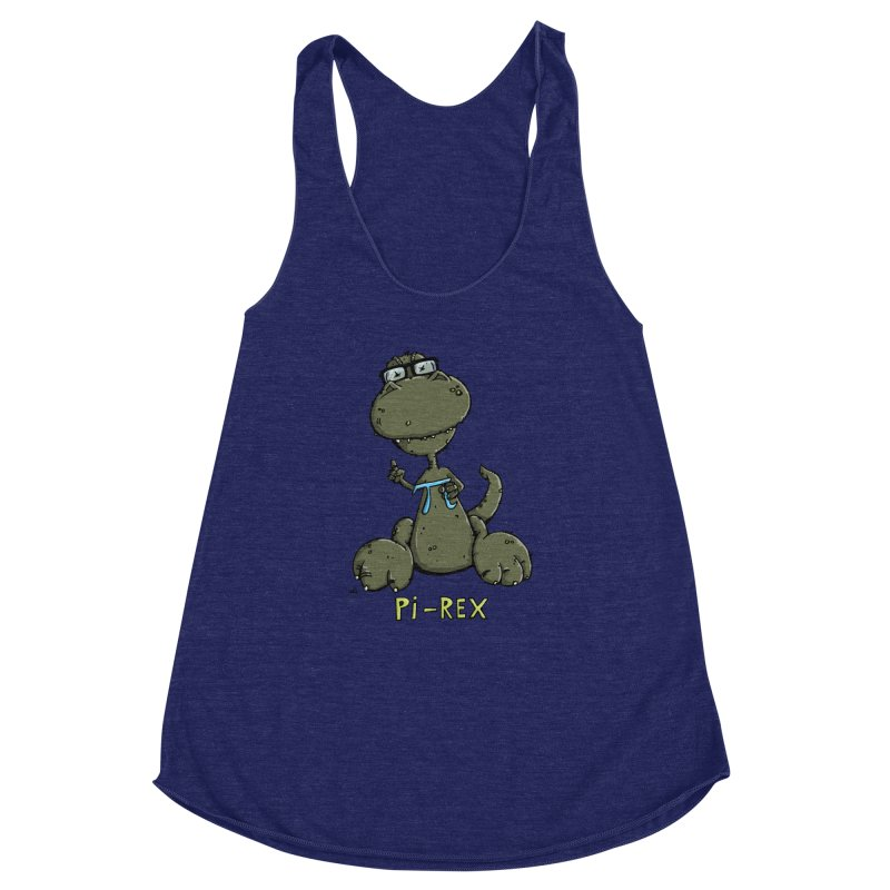 Pi-Rex Women's Racerback Triblend Tank by Illustrated Madness
