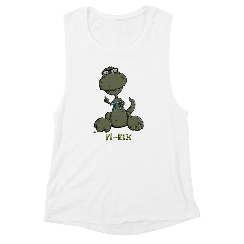 Pi-Rex Women's Muscle Tank by Illustrated Madness