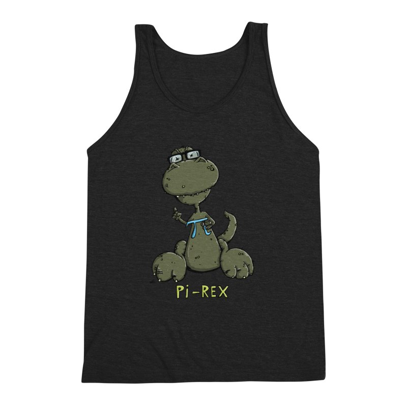 Pi-Rex Men's Triblend Tank by Illustrated Madness