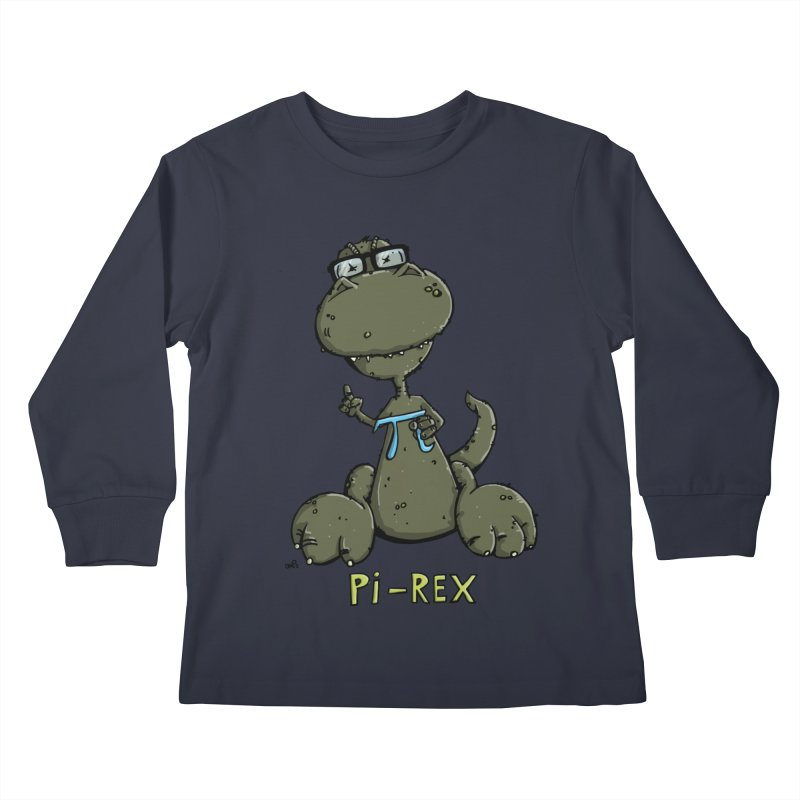 Pi-Rex Kids Longsleeve T-Shirt by Illustrated Madness