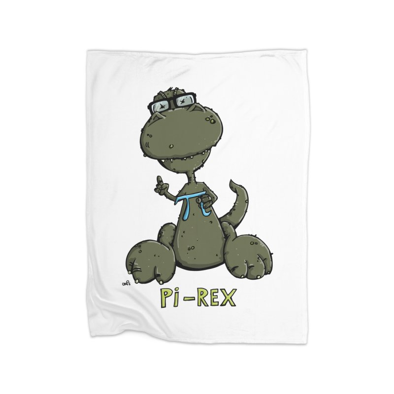 Pi-Rex Home Blanket by Illustrated Madness