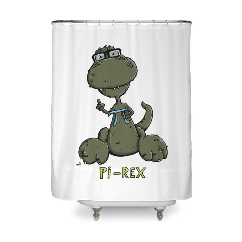 Pi-Rex Home Shower Curtain by Illustrated Madness