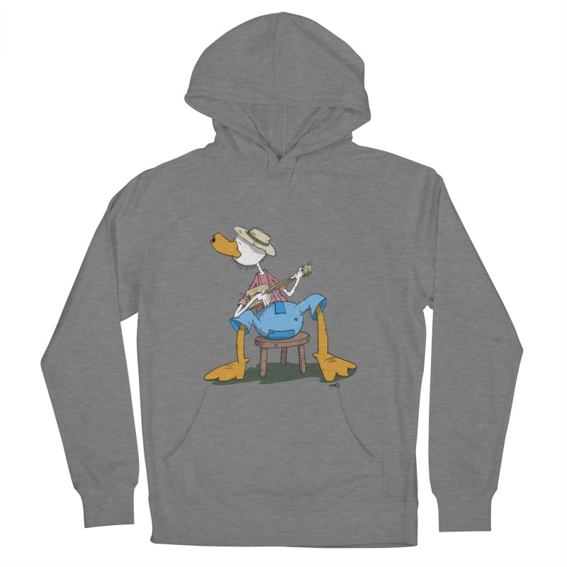 The Duck plays a cool Guitar Women's Pullover Hoody by Illustrated Madness