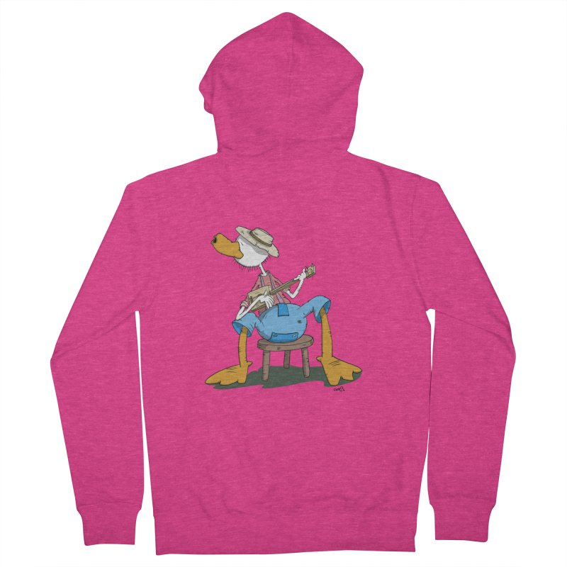 The Duck plays a cool Guitar Women's Zip-Up Hoody by Illustrated Madness
