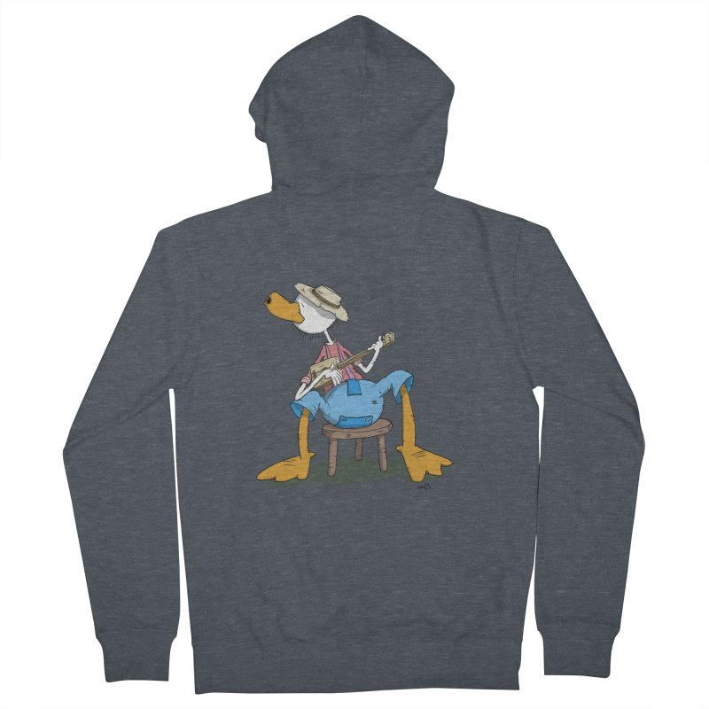 The Duck plays a cool Guitar Men's Zip-Up Hoody by Illustrated Madness
