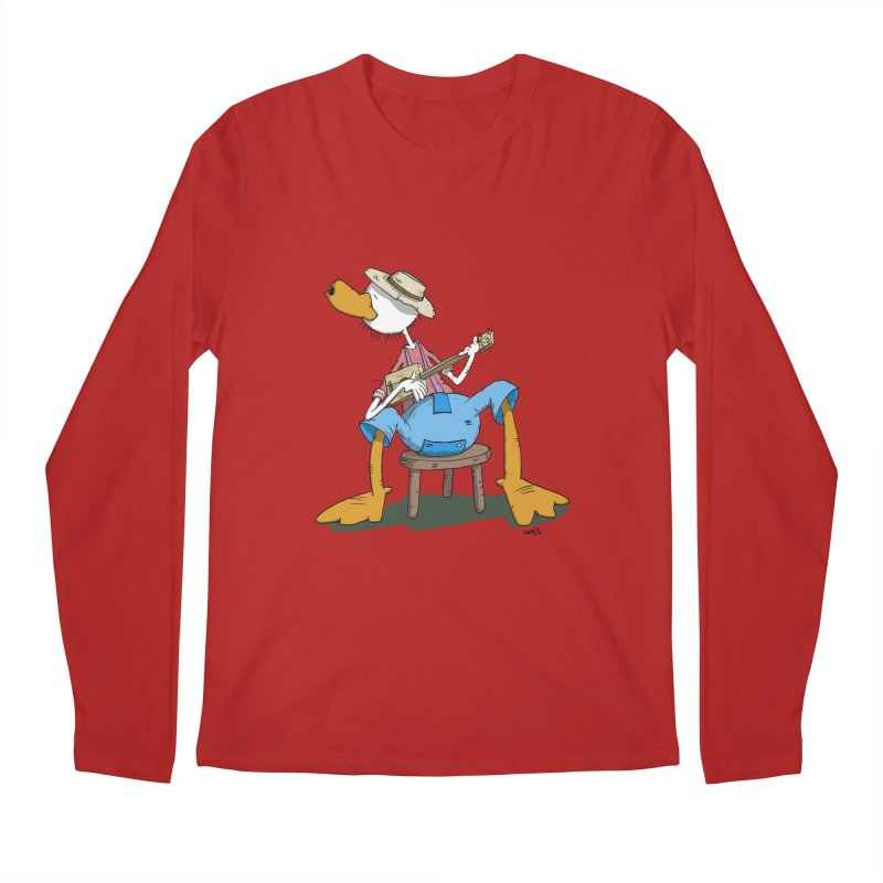 The Duck plays a cool Guitar Men's Longsleeve T-Shirt by Illustrated Madness