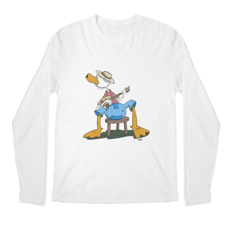 The Duck plays a cool Guitar Men's Regular Longsleeve T-Shirt by Illustrated Madness