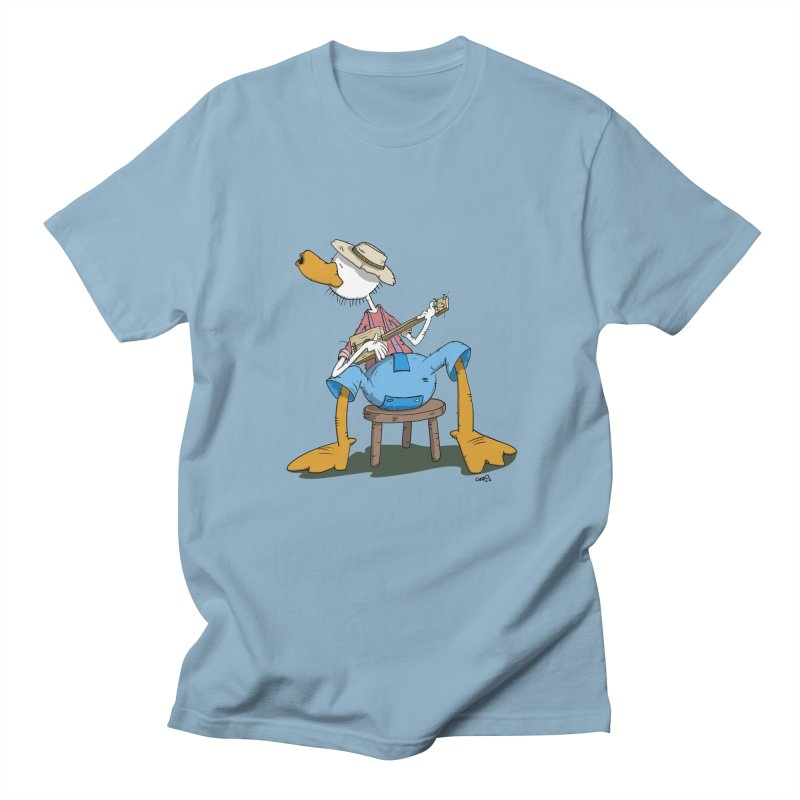 The Duck plays a cool Guitar Men's T-Shirt by Illustrated Madness