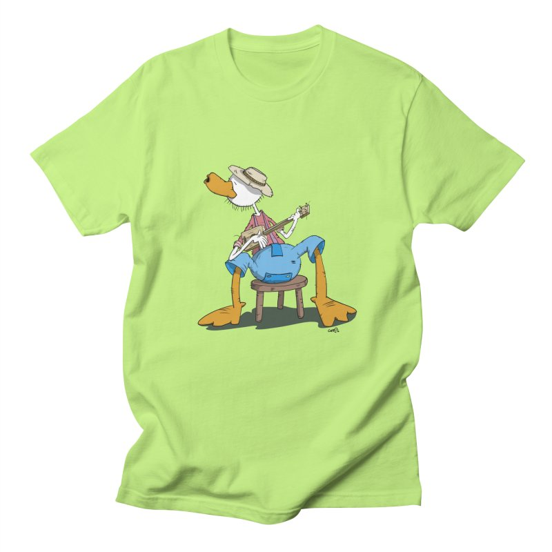 The Duck plays a cool Guitar Women's Unisex T-Shirt by Illustrated Madness