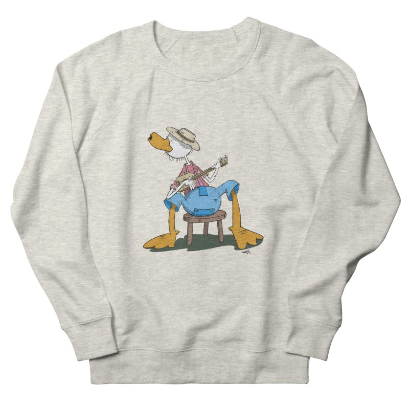 The Duck plays a cool Guitar Women's Sweatshirt by Illustrated Madness