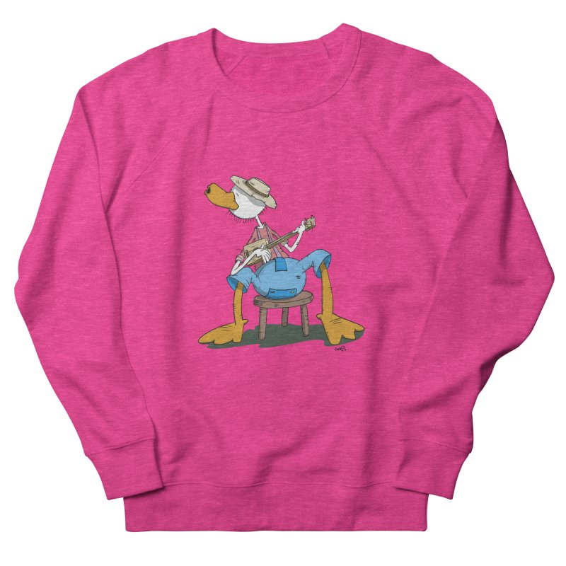 The Duck plays a cool Guitar Men's Sweatshirt by Illustrated Madness