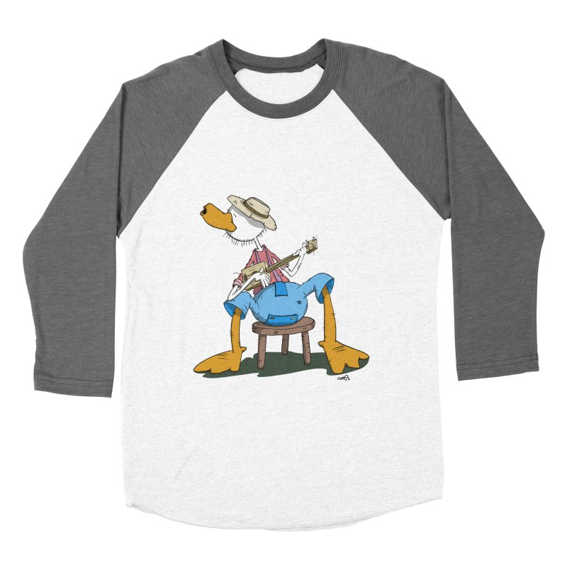 The Duck plays a cool Guitar Women's Baseball Triblend T-Shirt by Illustrated Madness