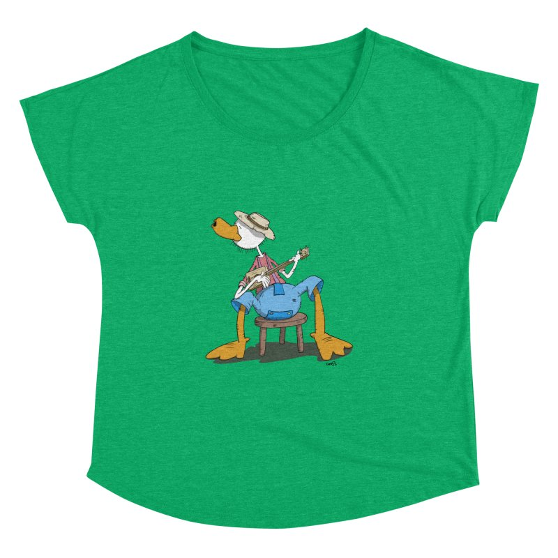 The Duck plays a cool Guitar Women's Dolman by Illustrated Madness