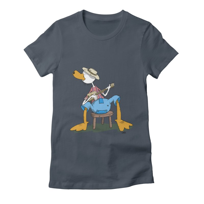The Duck plays a cool Guitar Women's T-Shirt by Illustrated Madness