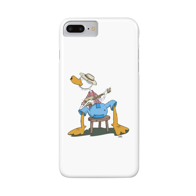 The Duck plays a cool Guitar Accessories Phone Case by Illustrated Madness