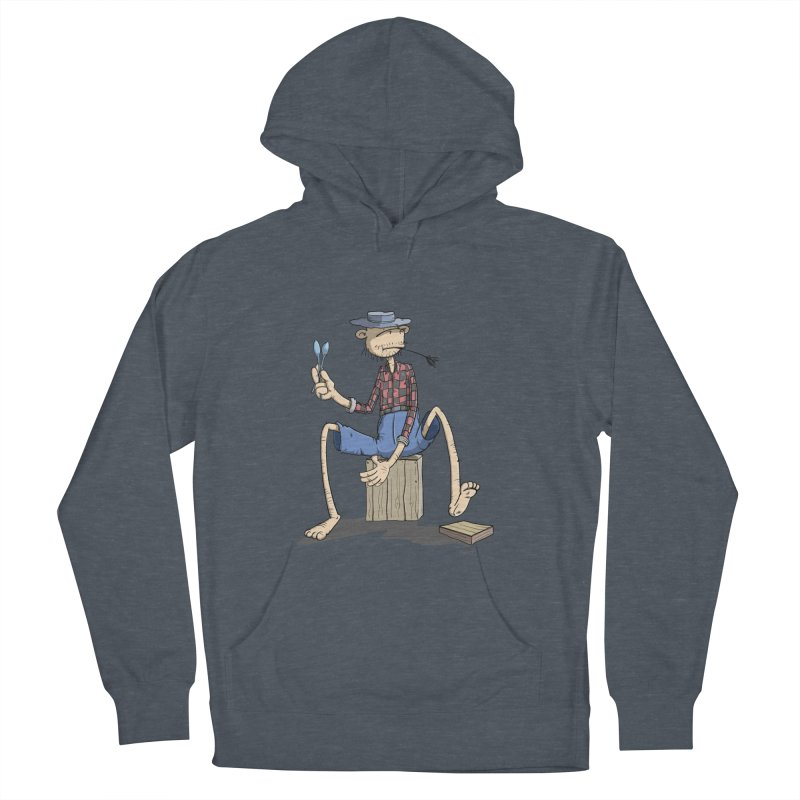The Monkey plays a cool Percussion Women's Pullover Hoody by Illustrated Madness