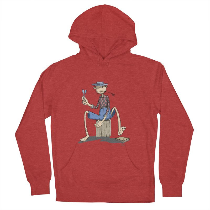 The Monkey plays a cool Percussion Men's Pullover Hoody by Illustrated Madness