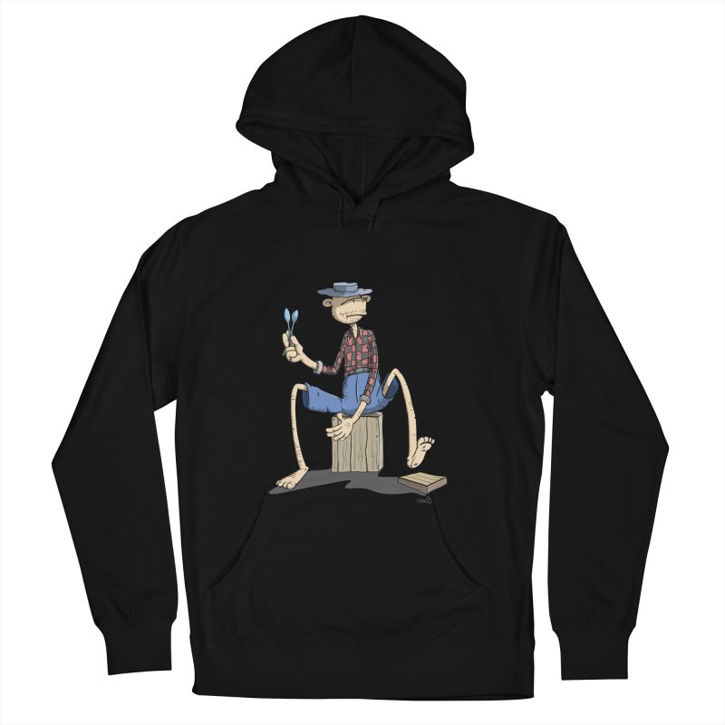 The Monkey plays a cool Percussion Men's French Terry Pullover Hoody by Illustrated Madness