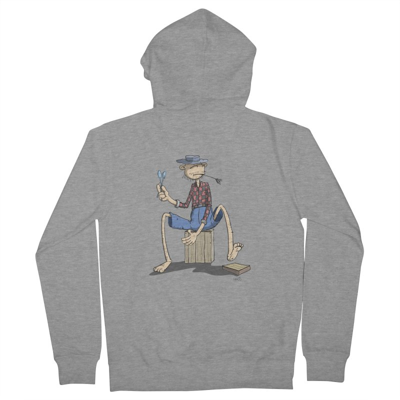 The Monkey plays a cool Percussion Women's Zip-Up Hoody by Illustrated Madness