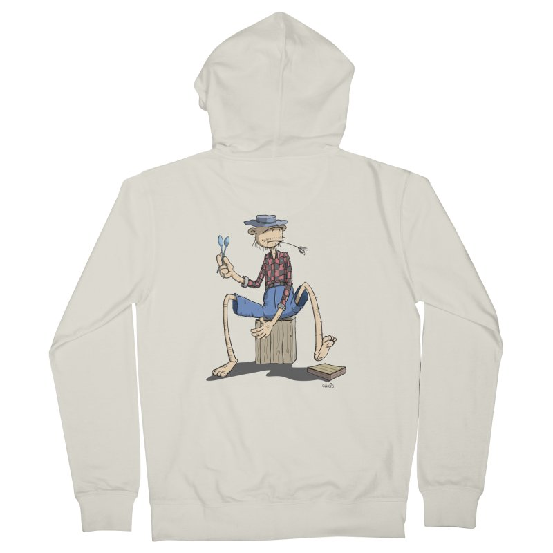 The Monkey plays a cool Percussion Men's Zip-Up Hoody by Illustrated Madness
