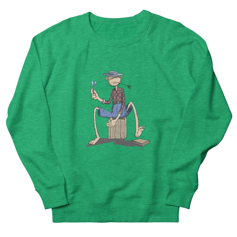 The Monkey plays a cool Percussion Women's French Terry Sweatshirt by Illustrated Madness
