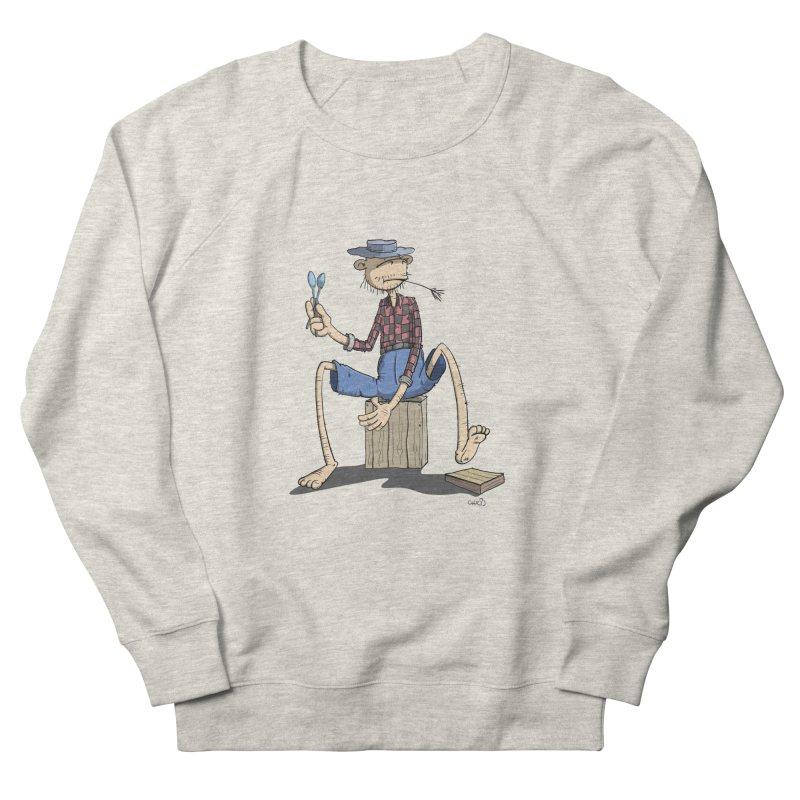 The Monkey plays a cool Percussion Women's Sweatshirt by Illustrated Madness