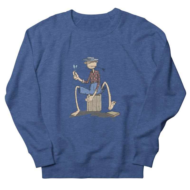 The Monkey plays a cool Percussion Men's Sweatshirt by Illustrated Madness