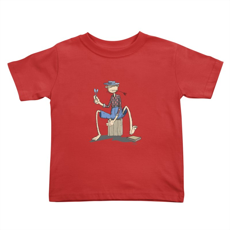 The Monkey plays a cool Percussion Kids Toddler T-Shirt by Illustrated Madness