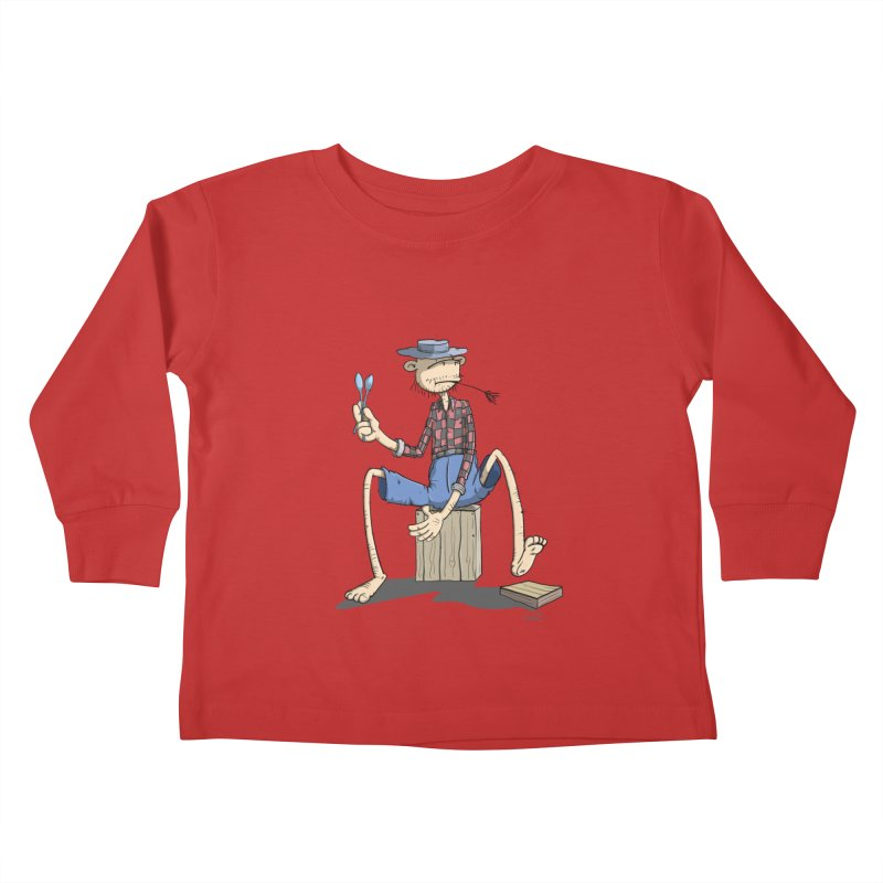 The Monkey plays a cool Percussion Kids Toddler Longsleeve T-Shirt by Illustrated Madness