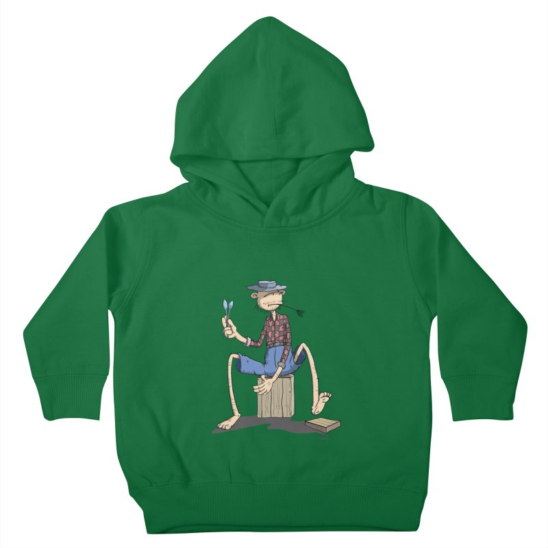 The Monkey plays a cool Percussion Kids Toddler Pullover Hoody by Illustrated Madness