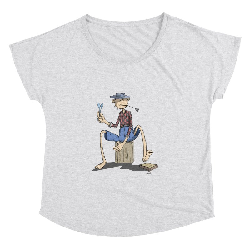 The Monkey plays a cool Percussion Women's Dolman by Illustrated Madness