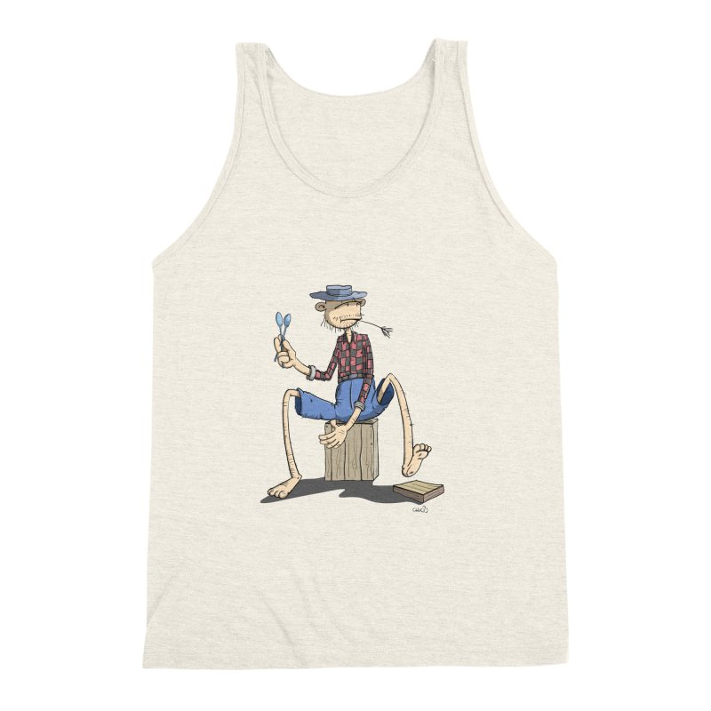 The Monkey plays a cool Percussion Men's Triblend Tank by Illustrated Madness