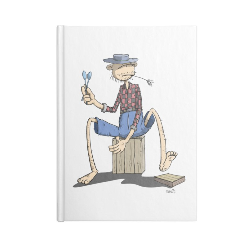The Monkey plays a cool Percussion Accessories Blank Journal Notebook by Illustrated Madness
