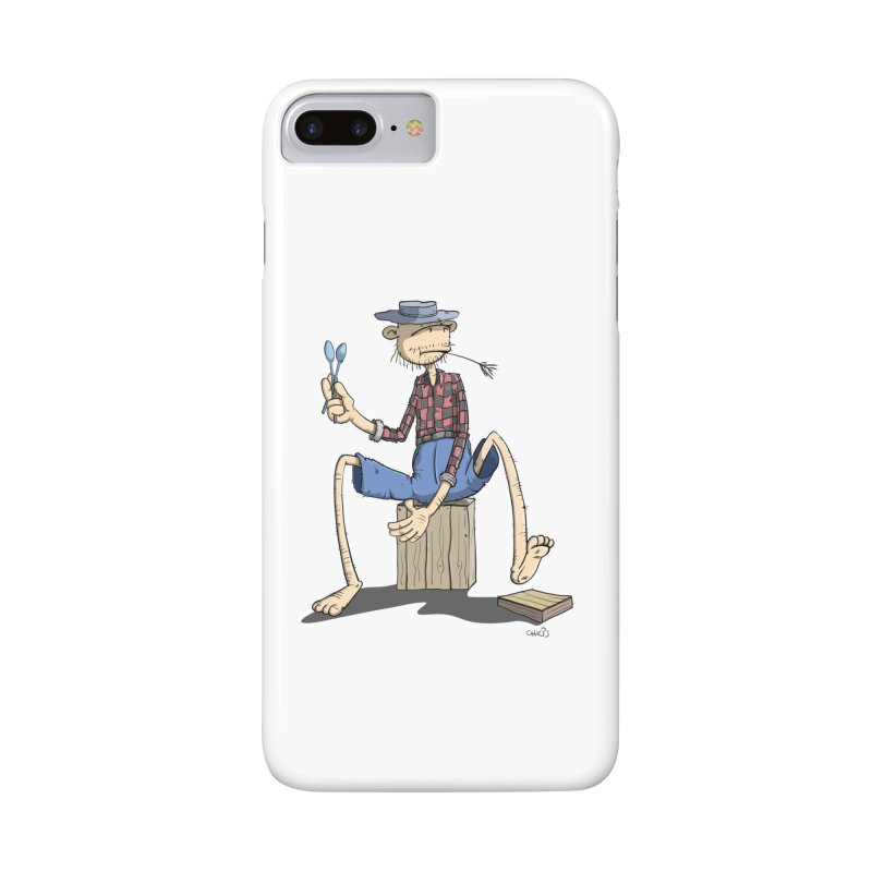 The Monkey plays a cool Percussion Accessories Phone Case by Illustrated Madness