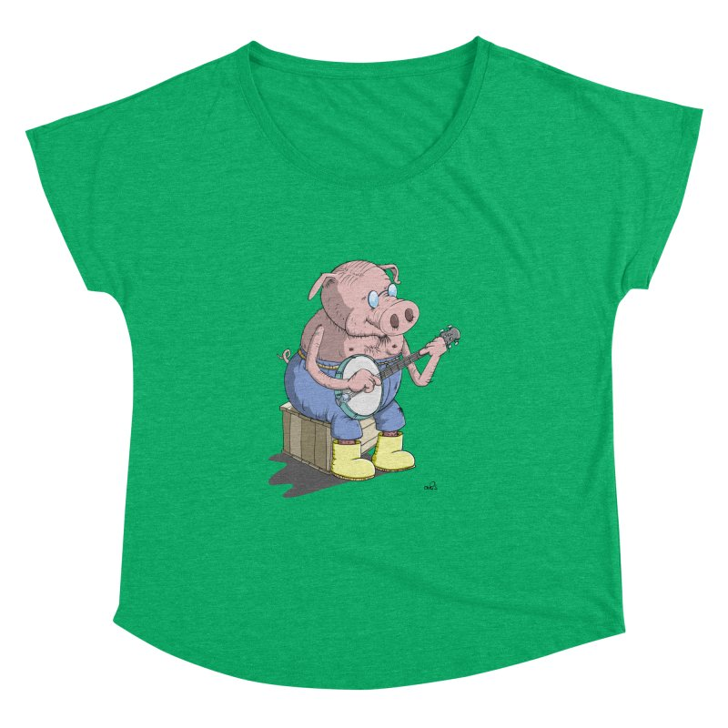 The Pig plays a cool Banjo Women's Dolman by Illustrated Madness