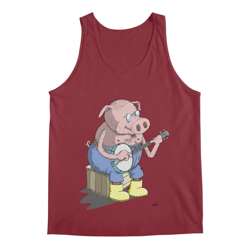 The Pig plays a cool Banjo Men's Tank by Illustrated Madness