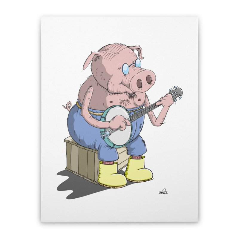 The Pig plays a cool Banjo   by Illustrated Madness
