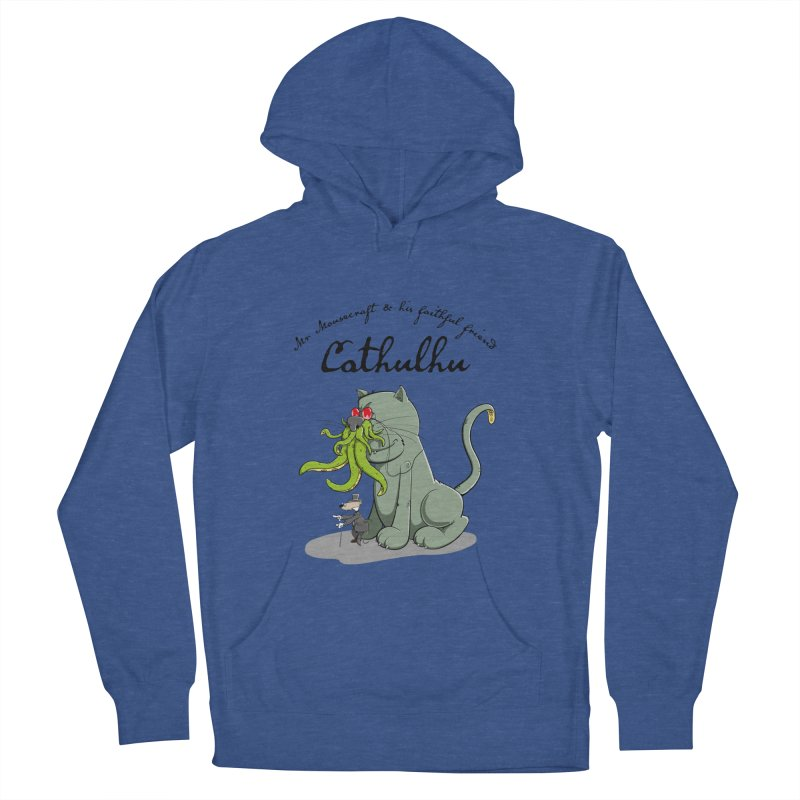 Mr Mousecraft and his faithful Friend Cathulhu Men's French Terry Pullover Hoody by Illustrated Madness