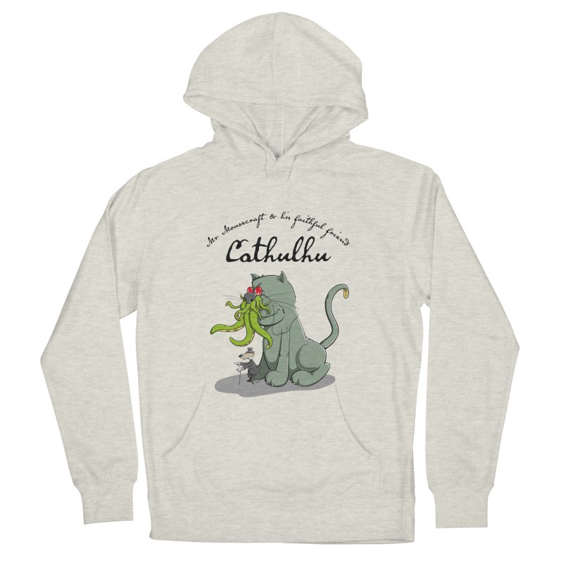 Mr Mousecraft and his faithful Friend Cathulhu Men's Pullover Hoody by Illustrated Madness