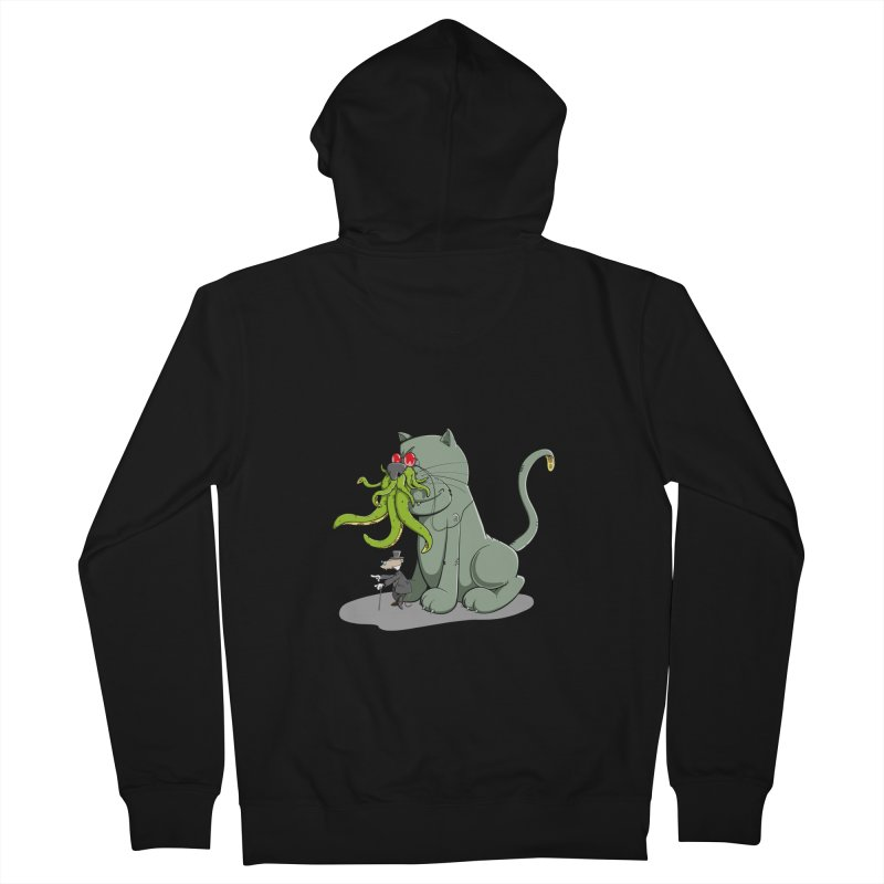 Mr Mousecraft and his faithful Friend Cathulhu Men's Zip-Up Hoody by Illustrated Madness