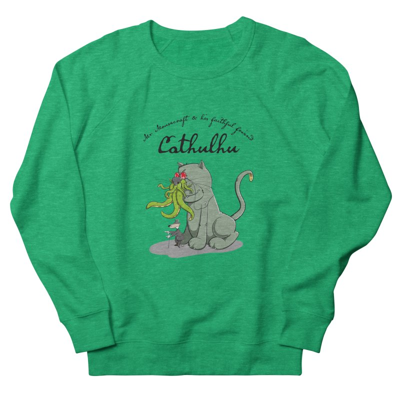 Mr Mousecraft and his faithful Friend Cathulhu Women's French Terry Sweatshirt by Illustrated Madness